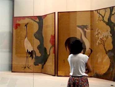 Biombos japoneses de la Escuela Rimpa · Museo Nacional del Prado