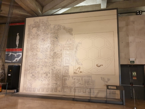 Mosaico romano de «Las musas» · Museo del Foro de Caesaraugusta